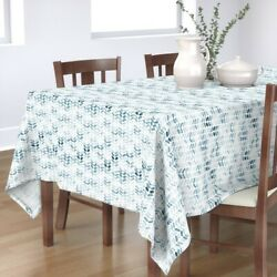 Tablecloth Water Textured Chevrons Painted Marks Tyre Mark Making Cotton Sateen