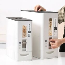 New Measurable Seal Rice Cereal Grain Flour Storage Container Bucket Home Supply
