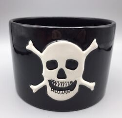 Season Of The Witch Black Candy Dish Ceramic Pirate Skull Dennis East Halloween