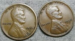 1910-s 1926-d Lincoln Cent Wheat Penny ---- Nice Lot  ----  N810