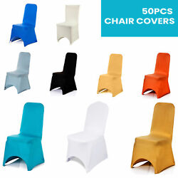 Dining Chair Seat Covers Spandex Slip Wedding Banquet Home Protective Stretch Uk