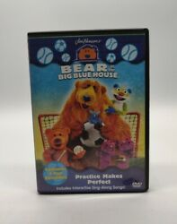 Bear In The Big Blue House Practice Makes Perfect Dvd Jim Henson Rare Oop