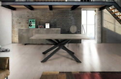 Table Solid Wood Oak With Knots With Base Metal Various Sizes