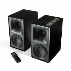Klipsch The Fives Powered Monitor Bookshelf Speakers With Hdmi-arc Matte Black