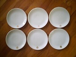 6 Twa Trans World Airlines 6 In. Bread And Butter Plates By Rosenthal Germany