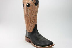Justin Boots Stillwater Calf Square Toe  Mens Western Cowboy Boots   - Size