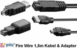 Firewire 5 11/12ft Cable And Adapter Various Editions 4/6/9 Pin Goobay