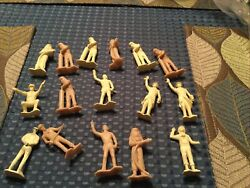 Marx Cape Canaveral Ground Crew Figures Cream And Tan X15