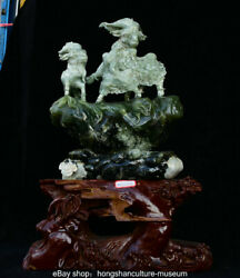 18 Chinese Natural Xiu Jade Jadeite Carved Sheep Goat Animal Lucky Sculpture
