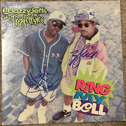 Dj Jazzy Jeff Fresh Will Smith Signed Album Lp Ring My Bell Autographed
