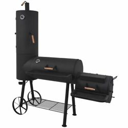 Large Bbq Charcoal Smoker Barbecue Grill Outdoor Portable Garden Cooker W/ Shelf
