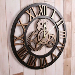 Vintage Industrial Style Metal Aesthetic Wall Clock Decorative Wall Clock