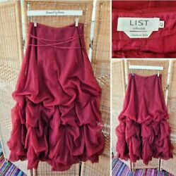 List Collezioni Red Mesh Steampunk Gothic Layered Maxi Skirt It 42 Uk 10 Small