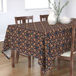 Tablecloth Horses Persian Carpet Colt Navy Oriental Red And Cotton Sateen