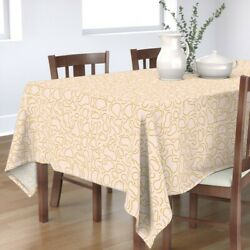 Tablecloth Ripple Abstract Water Squiggle Doodle Marks Fun Cotton Sateen
