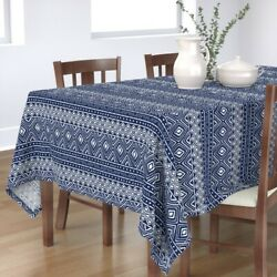 Tablecloth Tribal Mud Cloth Mudcloth African Thin Line Textiles Cotton Sateen