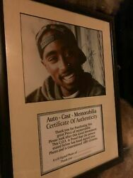 Signed 2pac / Tupac Photo In Frame With Coa