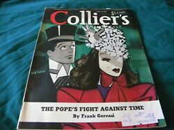 March 30 1940 Colliers Magazine Jaro Fabry Cover Art New York Blackout Pius Xii