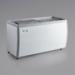 NEW 60quot; Ice Cream Glass Dipping Freezer Chest Showcase Display Commercial ETL