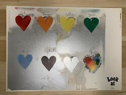Jim Dine 8 Hearts / Look At Dine Lithograph 1970