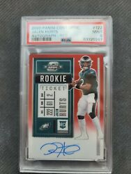 Jalen Hurts On Card Auto Psa 9 2020 Contenders Optic Red /199