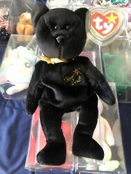 1999 The End Bear With Rare Errors Ty Beanie Baby