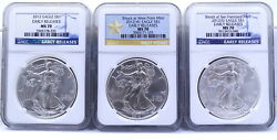 2013 P/w/s Struck Ngc Ms70 999 Silver Liberty American Eagle 1 Oz Dollar Coin