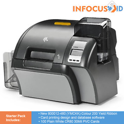 Zebra Zxp Series 9 Retransfer Id Badge Printer With Starter Pack Support And Vat