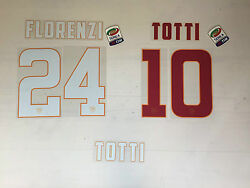2704 Roma Name Set And Number Shirt Jersey 2014 2015 Home Away Official