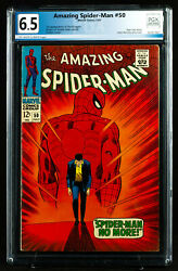 Amazing Spider-man 50 Pgx 6.5 Fn+ Key 1st Kingpin Uncleaned And Unpressed