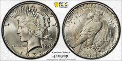 1935-s Peace Silver Dollar 1 Pcgs Ms 65 Type 2, Low Relief Rare High Grade Pq