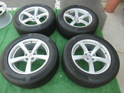 2021 Porsche Macan Oem Factory 18 Staggered Wheels Rims Continental Tires Silve