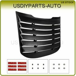 Rear 1 Pcs Abs Vent Window Louver Cover For Ford Mustang 15-20 Brand New