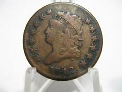 Very Very Rare 1812 Classic Head Small Date Vf/xf Large Cent  Nfm704