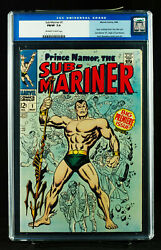 Sub-mariner 1 Cgc 7.0 Fn/vf Fine / Very Fine Old Label Coming To Mcu