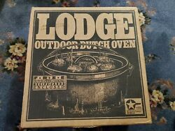 Very Rare Lodge 14co2 14co Cast Iron Shallow Camp Dutch Oven Discontinued No.14
