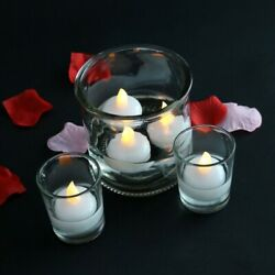 12Pcs Flameless Floating Candles Waterproof LED Floating Tealights Decor Gift