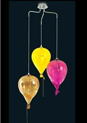 Chandelier Hanging Modern Murano Glass Made In Italy Made By Hand 3 Lights