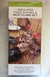 Charcoal Companion Insulated Food Gloves And Meat Claws Set Bbq Smoking Barbecue