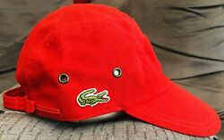 Collection Casquette Cap Lacoste Vintage Girolle Rouge Taille 2 Ykk