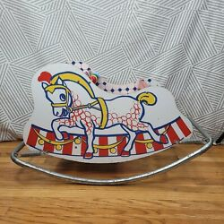 Vintage Rocking Horse Ride Bouncy Pony Sleigh Circus Swing Chair 32 Childrens