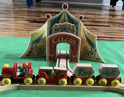 Vintage Brio Wooden Train Set Curious George Circus And Bicycle Lot. Thomas