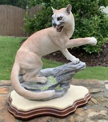 Boehm Cougar 10093 Mountain Lion With Base Retails For 2500.00
