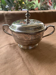 And Company Makers Sterling Queen Anne Covered Sugar Bowl With Pattern