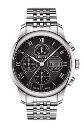 Brand New Tissot Mens Le Locle Valjoux Chrono Silver Band Watch T0064141105300