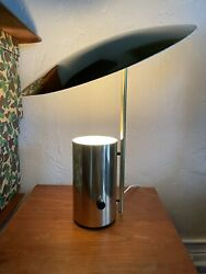 """George Nelson """"half Nelson"""" Brass Table Lamp Koch And Lowy Vintage"""