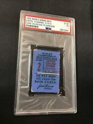 1922 World Series Game 2 Ny Giants V Yankees Babe Ruth Controversial Tie