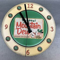 Mountain Dew Cold Drinks Beverage Logo Sign Round Wall Clock Yahoo 9-10andrdquo Battery