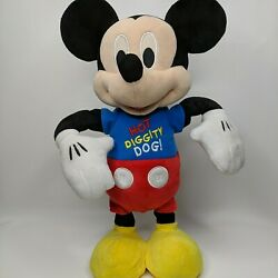 Disney Mickey Mouse Hot Diggity Dog 16 Dances Sings Spins Bows W/ Lights