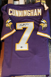 Randall Cunningham Signed Authentic Mitchell And Ness Min Vikings Jersey Beckett